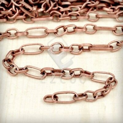 2m 6.56feet Unfinished Bulk Chain Textured Cable Antique Copper 8.6x3.9mm HC