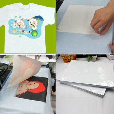 100*Sheets A4 Dye Sublimation Heat Transfer Paper For Polyester Cotton T-Shirt
