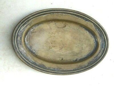 Antique tray handmade copper pedestal bowl Islamic period for Bedouin