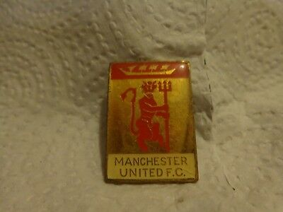 Vintage 60's/70's Manchester United Red Devil Football Enamel Brooch Pin Badge