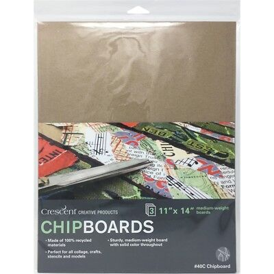 "Crescent Chipboard 3/pkg-11""x14"" Natural"