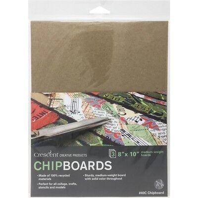 "Crescent Chipboard 3/pkg-8""x10"" Natural"