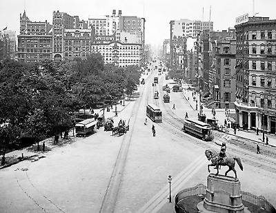 "1880-1901 Union Square, New York City, NY Vintage/ Old Photo 8.5"" x 11"" Reprint"