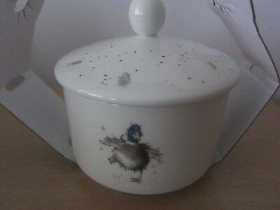 Royal Worcester Wrendale Covered Sugar Bowl - New In Sleeve