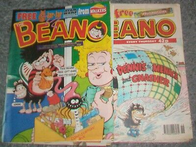 JOB LOT 15 BEANO`s from 1994 - 1999  Generally good for age.3/19
