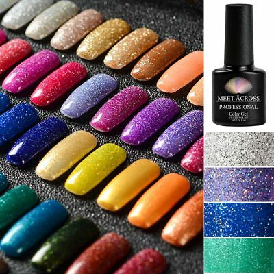 57Colors MEET ACROSS Shimmer Glitter Gel Nail Polish Nail UV LED Varnish DIY 7ml
