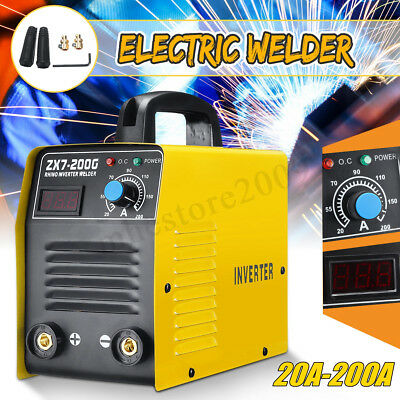 220V ZX7-200 LCD Electric IGBT Welder Inverter MMA/ARC Welding Soldering Machine