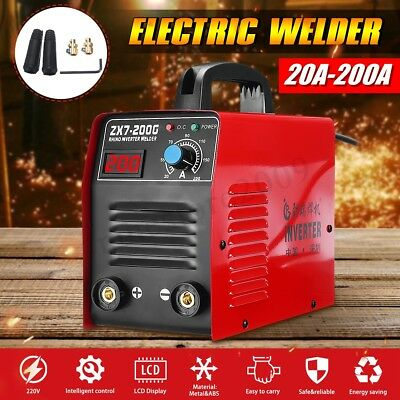 220V ZX7-200 Electric IGBT Welder Inverter MMA/ARC Welding Soldering Machine Red