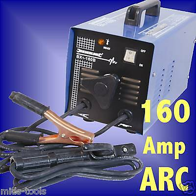 160 AMP ARC WELDER FAN COOLED stick rod 160amp