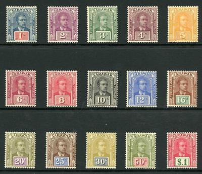 Sarawak SG76/90 1928 Set of 15 Fresh M/Mint