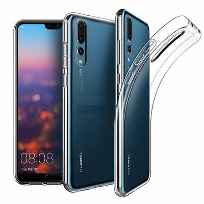 TPU SOFT SLIM SILICONE TRANSPARENT CLEAR BACK CASE COVER FOR Huawei P20/PRO/LITE