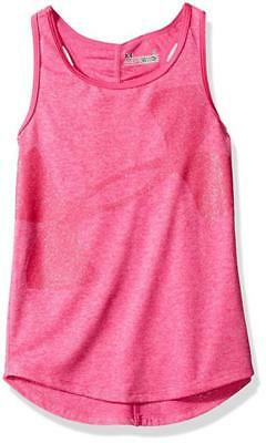 Under Armour Infant Girls Rebel Pink Dry Fit Tank Top Size 24M