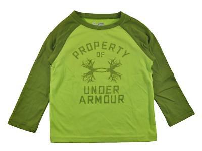 Under Armour Infant Boys L/S Green Logo Top Size 12M $20.99