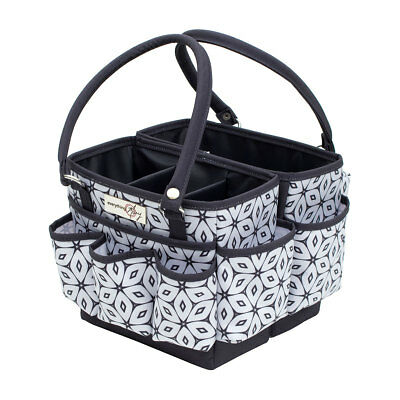 Folding Organizer Grey/White Floral Geo 28x24x19cm  Everything Mary EVM12011-3