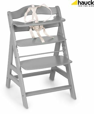 Hauck ALPHA+ WOODEN HIGHCHAIR GREY Highchair Baby Feeding - NEW