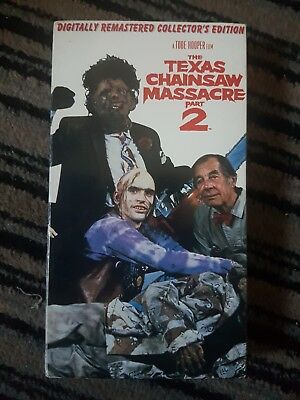 The Texas Chainsaw Massacre Part 2 - Us Ntsc Vhs Horror Collector's Edition