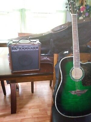 New Keith Urban Acoustic Electric 6 string guitar and amp