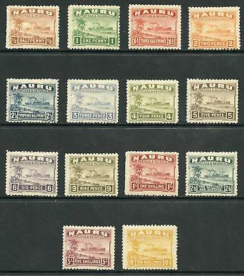 Nauru SG26A/39A KGV Set on Rough Surface Greyish Paper M/Mint