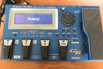 Guitar Synth Pedal >> Roland Gr55 Guitar Multi Effects Synth Pedal Blue W Gk 2a