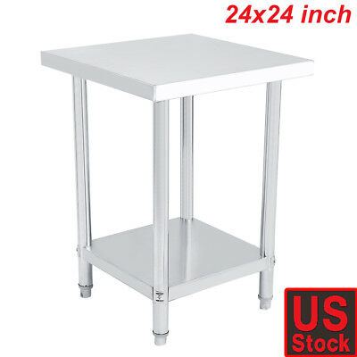 """24""""x24"""" Work Table Food Prep Commercial Stainless Steel Kitchen Restaurant"""