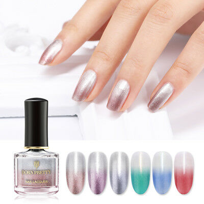 BORN PRETTY 6ml Thermal Color Changing Nail Polish Peel Off Shimmer Nail Varnish