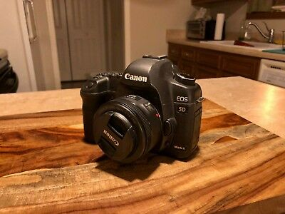 Canon EOS 5D Mark II 21.1MP Digital SLR Camera and 50mm f1.8 STM Lens