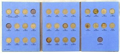 1883-1912 Liberty Head V Nickel Album Set - 30 Coin Collection - Near Complete