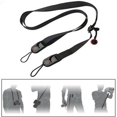 Camera Single Shoulder Neck Belt Strap Sling For SLR DSLR Cameras Black Durable