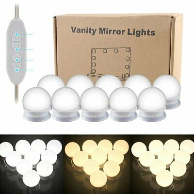Hollywood Vanity 10 LED Makeup Mirror Light Dimmable Light Bulbs Color Changing