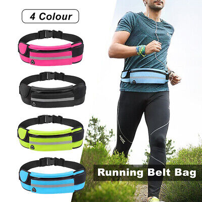 Money Pouch Zip Belt Exercise Bag Travel Waist Bags Fanny Pack Sports Wallet AU