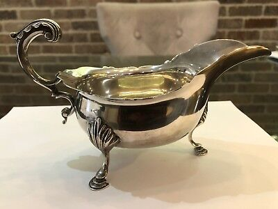 Antique English Sterling Silver Gravy or Sauce Boat With Hallmarks 1903