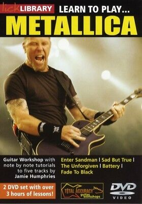 Lick Library Learn To Play Metallica Vol 1 Guitar Dvd Rdr0122 Tutorial Tuitional