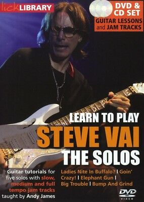 Learn To Play Steve Vai Solos Guitar Lick Library Dvd