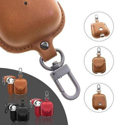 Real Leather Airpod Earphone Sleeve & Key Chain Case Cover For Apple AirPods UK