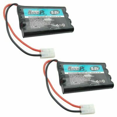2x 9.6V 8*AA 1800mAh NI-MH HyperPS Rechargeable Battery Pack with Tamiya Plug