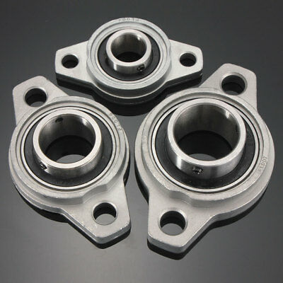 Zinc Alloy Pillow Block Flange Bearing 8/10/12/15/17/20/25/30/35mm Bore Diameter