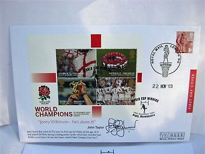 Signed Rugby World Cup First Day Cover with Certificate of Authenticity.