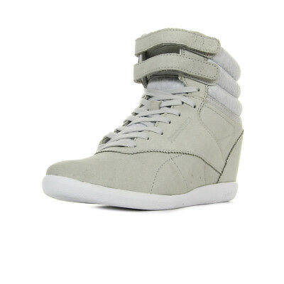 Chaussures Baskets Reebok femme F S Hi Int Wedge Night taille Gris Grise  Cuir 0295cb64b876