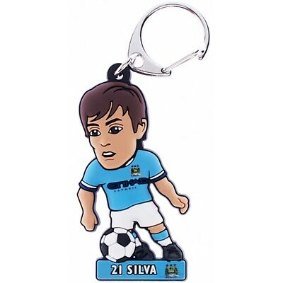 Manchester City F.c. Pvc Keyring Silva - Fc Football New