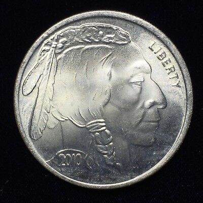 Liberty Indian Head Buffalo 2010 Silver 1 troy oz .999 Fine Silver Round ST