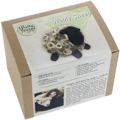 Pretty Twisted Kelly L. Corbett Needle Felting Diy Kit-wooly Sheep
