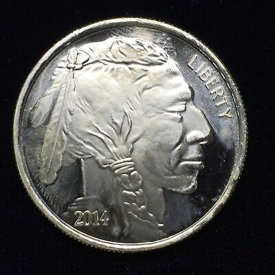 Liberty Indian Head Buffalo 2014 Silver 1 troy oz .999 Fine Silver Round ST