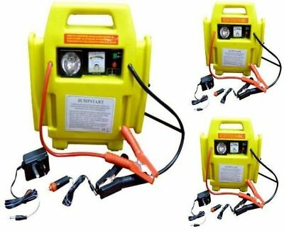 12V Battery Start Portable Car Jump Starter Air Compressor Booster Charger Leads