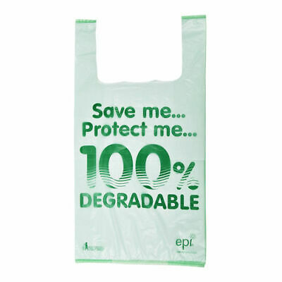 "11"" x 17"" x 21"" Image 100% Degradable Plastic Carriers - Pack of 2000"