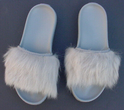 43b42cd9d22 UGG AUSTRALIA ROYALE Seal Grey Gray TOSCANA FLUFFIE SLIDE SLIPPERS ...