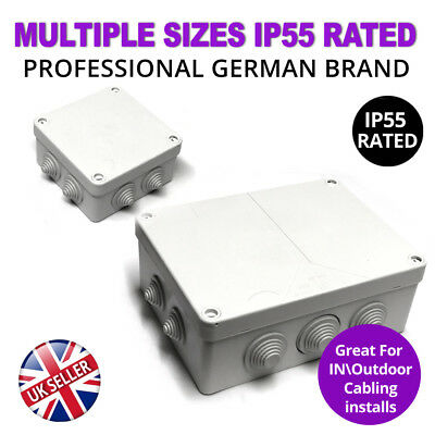 Outdoor Waterproof White Junction Box IP55 IP Box for CCTV Electric German Brand