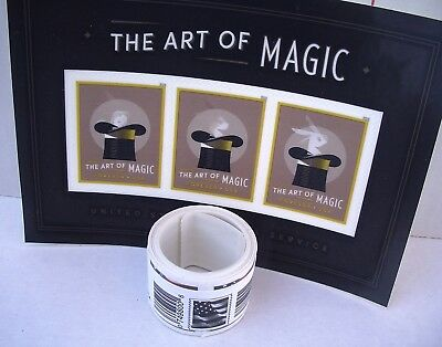 Roll of 100 Forever Stamps & Art of Magic Souvenir Sheet FAST Ship & Track. 2017