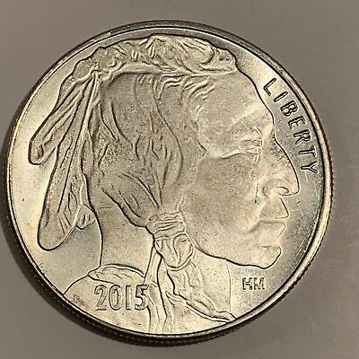 Liberty Indian Head Buffalo 2015 USA Silver 1 troy oz .999 Fine Silver Round HM