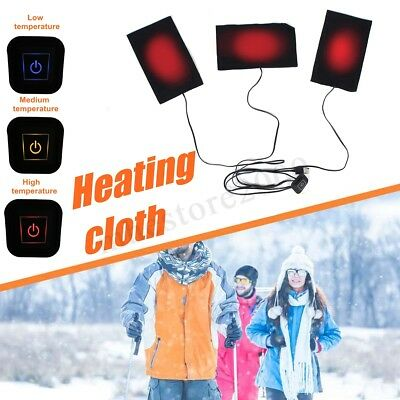 Electric Heating Pads USB Cloth Thermal Vest Jacket Outdoor Mobile Warming Gear