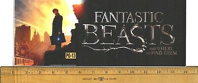 """Fantastic Beasts And Where To Find Them (2016) Midsize 5"""" X 13"""" Movie Mylar"""